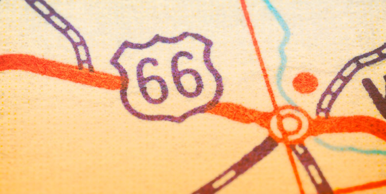 picture of map of route 66